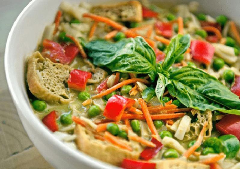 Some of the Charmiz vegeterian restaurant foods