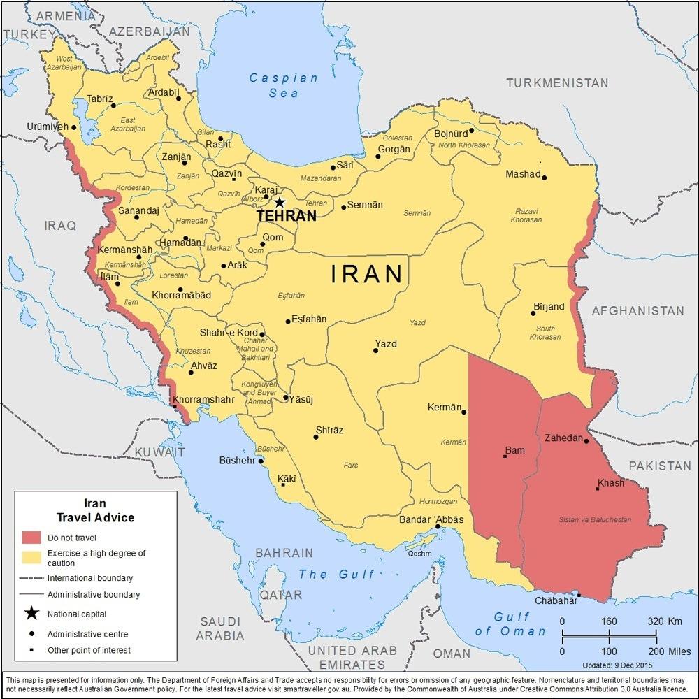 Danger Ranking by Safe Around - Iran