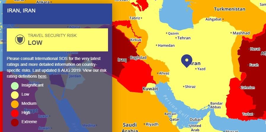 2019 Travel Risk Map - Iran