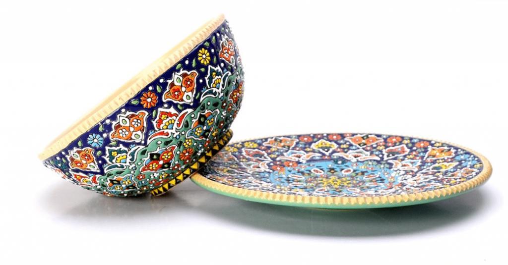 Enameling, Pottery, Iran Souvenirs,