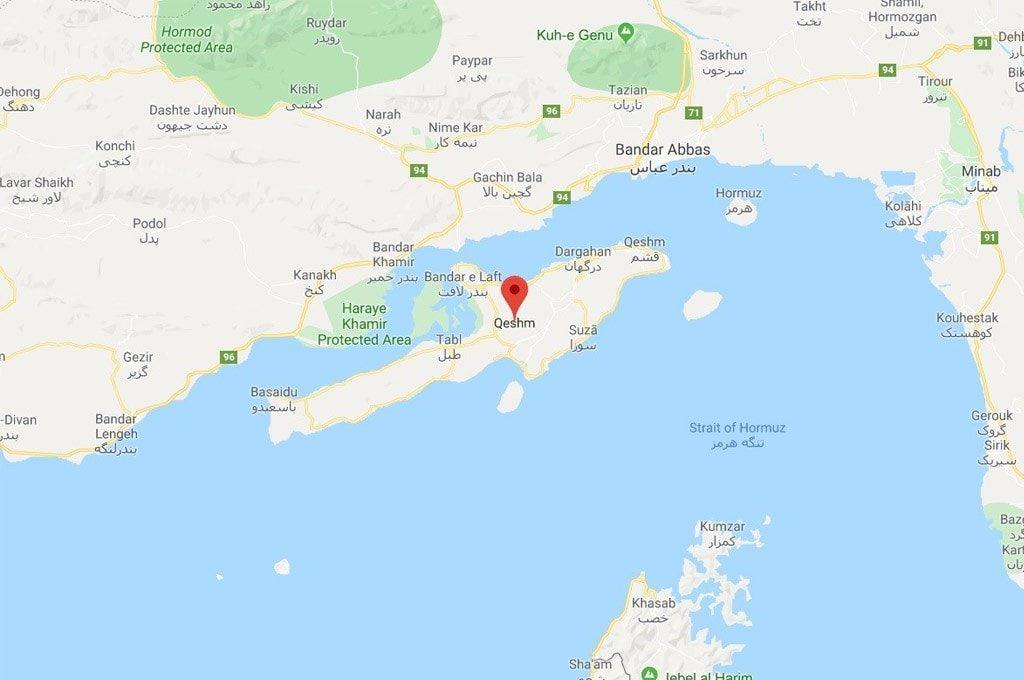 Qeshm island location