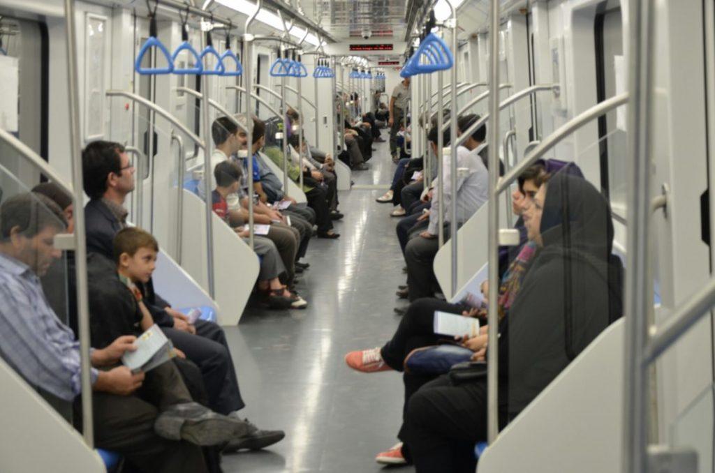Inside Tehran Metro Wagons