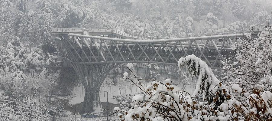 Tehran Tabiat Bridge in winter