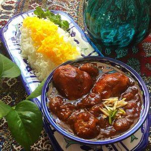 Tehran Foods, Aaloo-gerdoo Stew