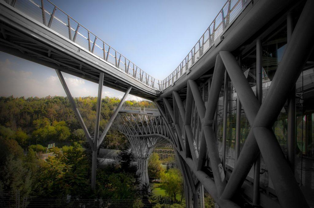 Multilevel Pedestrain Bridge in Tehran