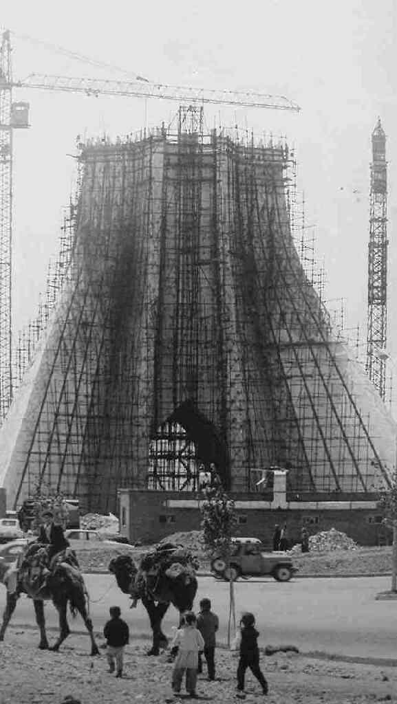 Azadi Tower Construction.