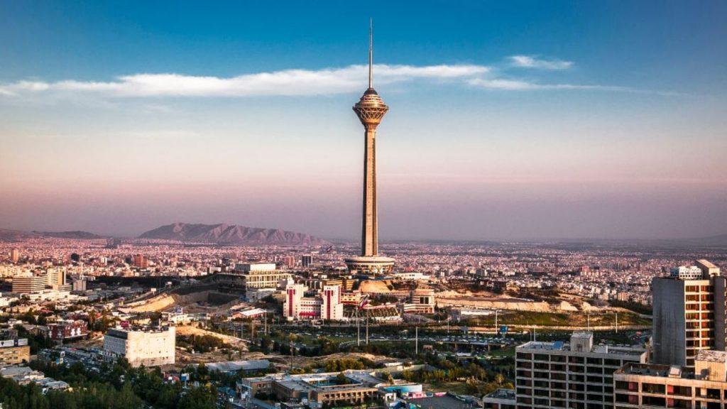 Milad Tower Tehran Skyline