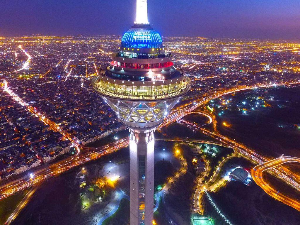 Milad Tower and Tehran Skyline