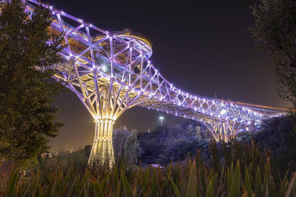 Tehran Tabiat Bridge at Night