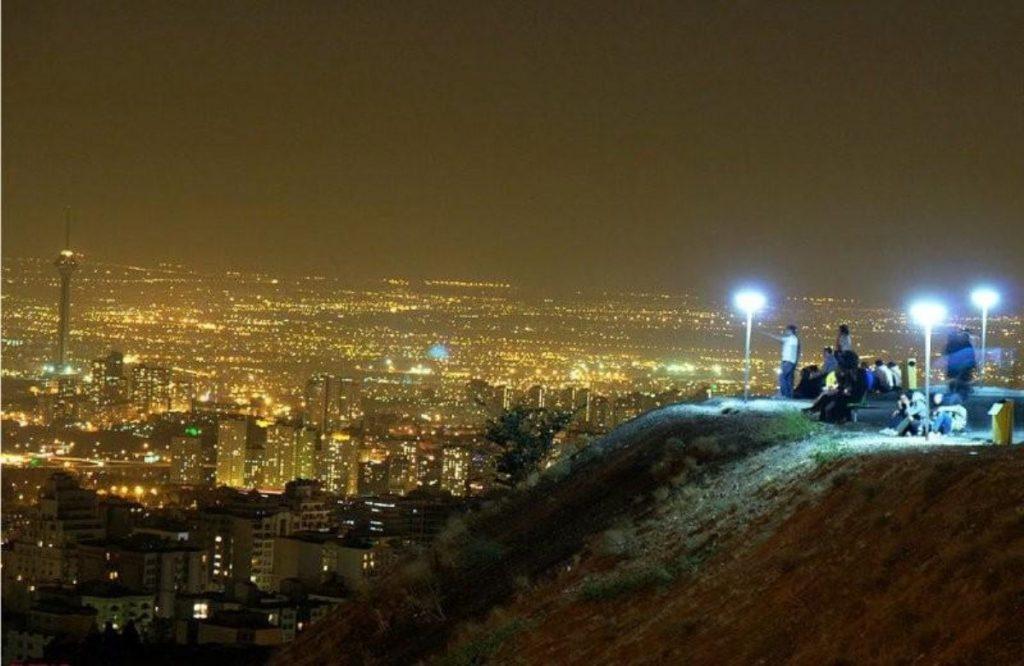 Bam-e Tehran Night View