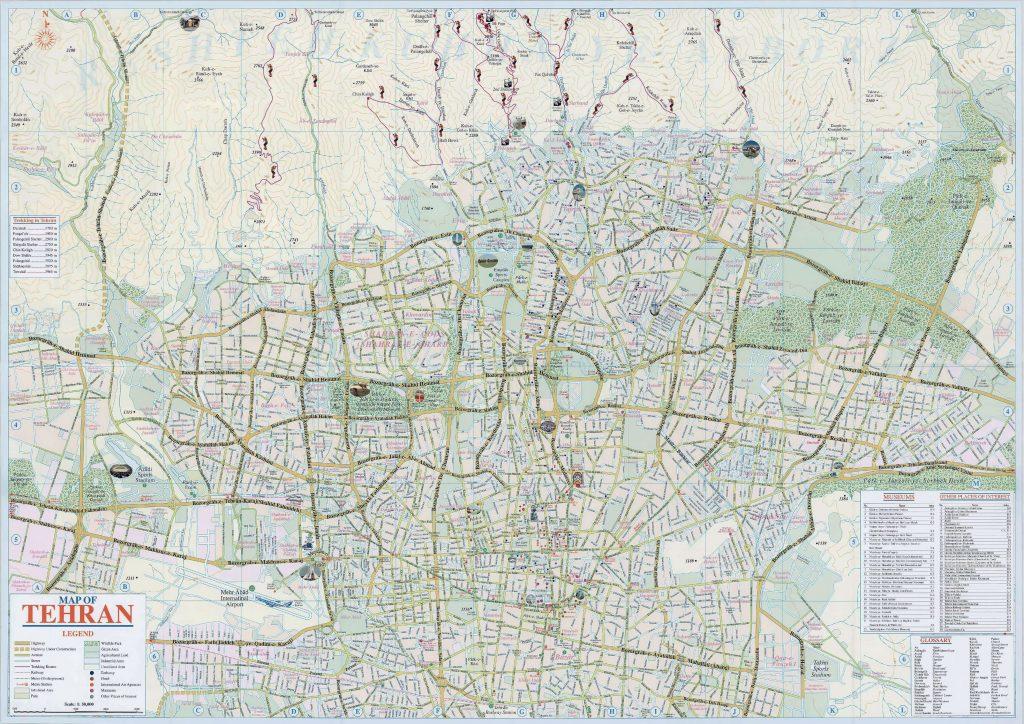 Tehran Map, Tehran Province