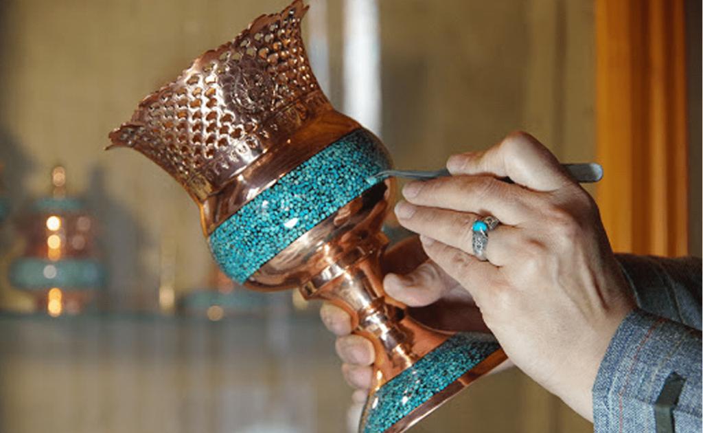 Firoozeh Koubi, Turquoise Inlaying, Handicrafts in Iran