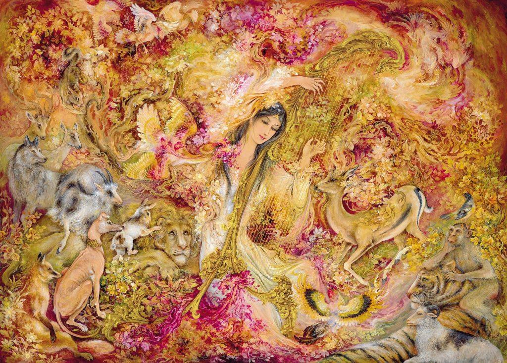 Persian Art Painting, Persian Miniature, Mahmoud Farshchian