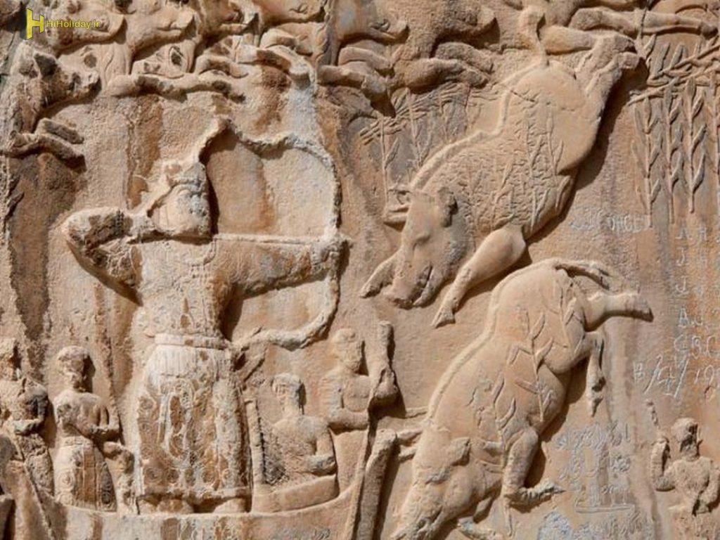 Taq-e Bostan, Kermanshah, Persian Rock Art